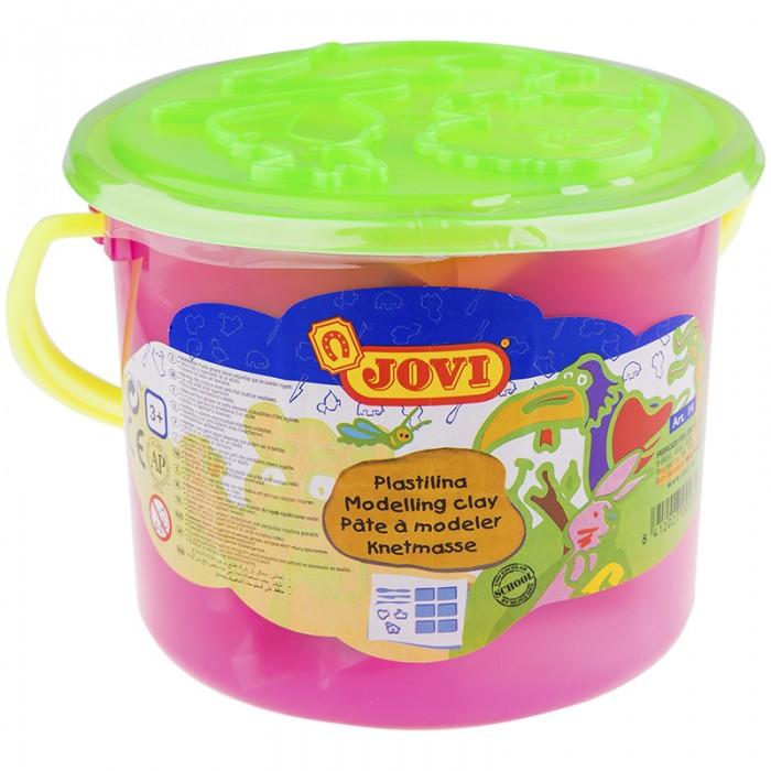 Всё для лепки Jovi Пластилин 6 цветов 300 г в ведре всё для лепки lori пластилин классика 16 цветов