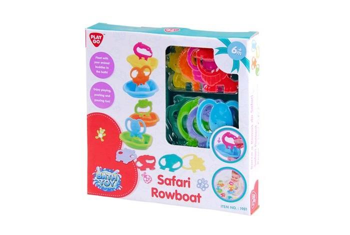 Игрушки для ванны Playgo Набор для ванной Лодочки сафари развивающие игрушки playgo сафари парк