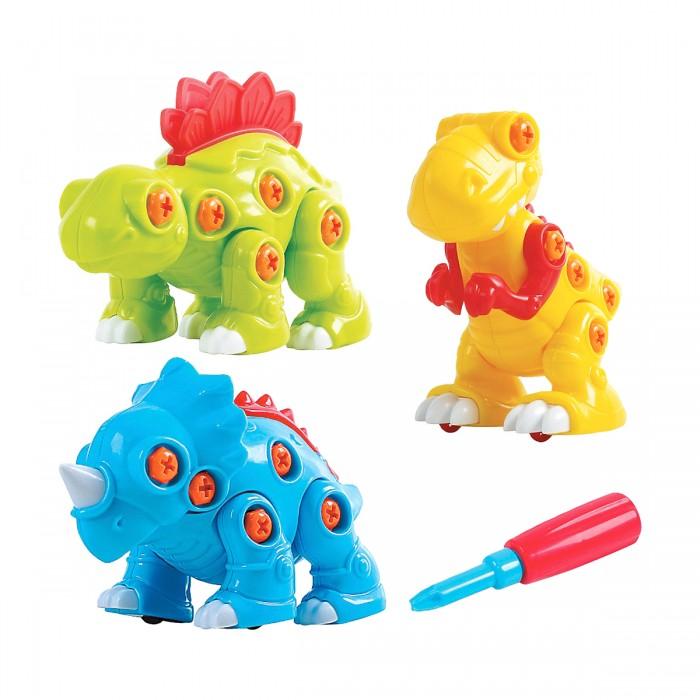 Конструкторы Playgo Собери динозавра 3 шт. ролевые игры playgo игровой набор бытовой техники с тостером