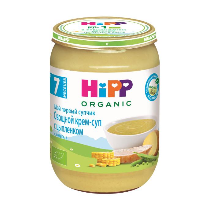 Супы Hipp Овощной крем-суп с цыпленком с 7 мес., 190 г