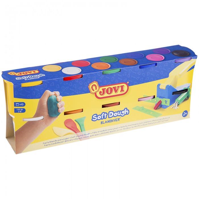 Творчество и хобби , Всё для лепки Jovi Масса для лепки 10 цветов х 110 г арт: 293389 -  Всё для лепки