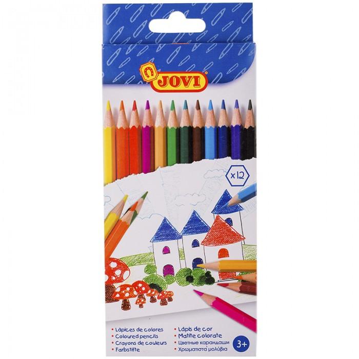 Карандаши, восковые мелки, пастель Jovi Карандаши 12 цветов шестигранные карандаши