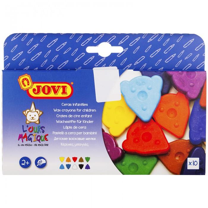 Карандаши, восковые мелки, пастель Jovi Мелки восковые 10 цветов фигурные карандаши восковые мелки пастель kuso мелки восковые кирпичики 4 цвета