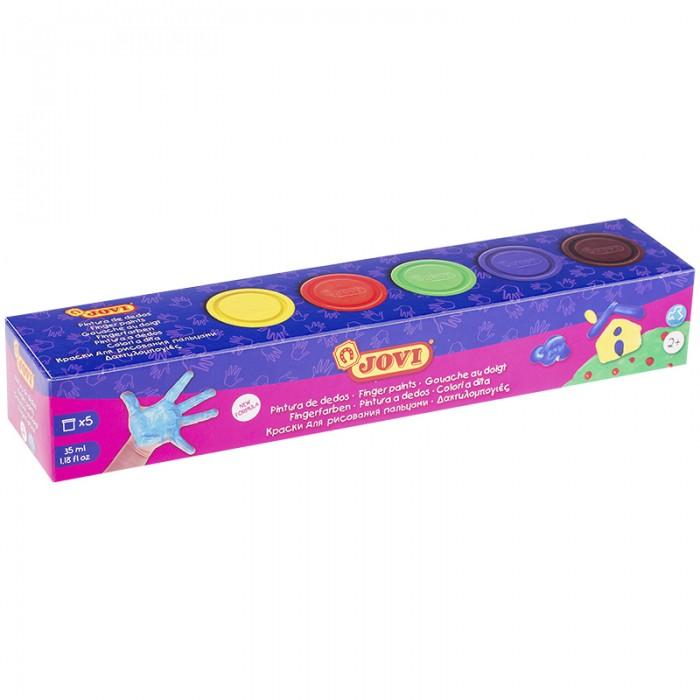 Краски Jovi Краски пальчиковые 5 цветов 175 г краски спейс краски пальчиковые 6 цветов сенсорные
