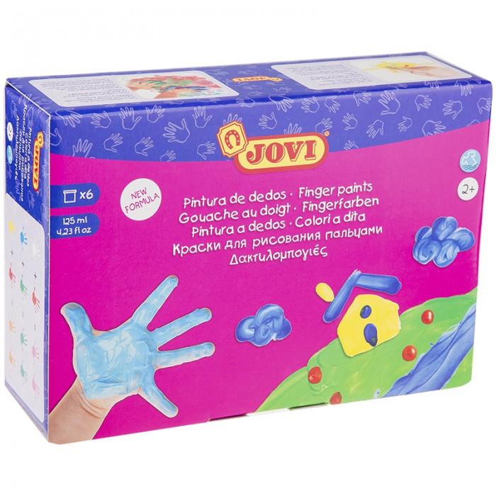 Развитие и школа , Краски Jovi Краски пальчиковые 6 цветов 750 г арт: 293497 -  Краски