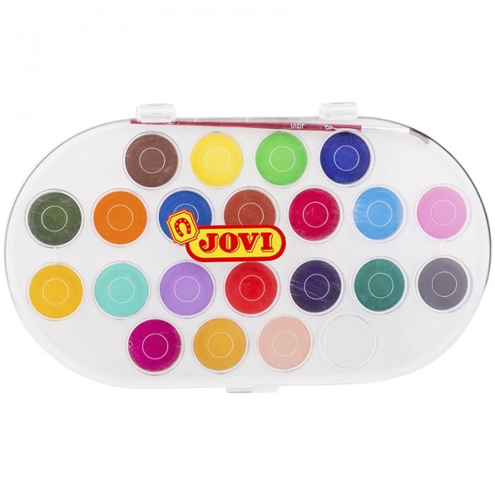 Картинка для Jovi Акварель 22 цвета большие кюветы с кистью