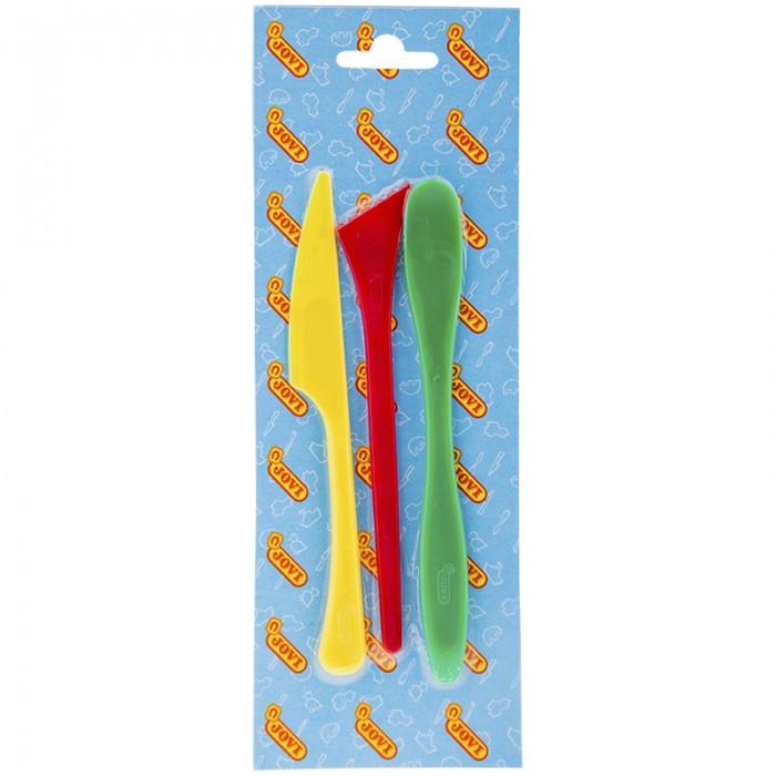 Всё для лепки Jovi Стеки для лепки пластиковые 3 шт. всё для лепки lori набор для рисования пластилином полосатая рыбка объёмная картина