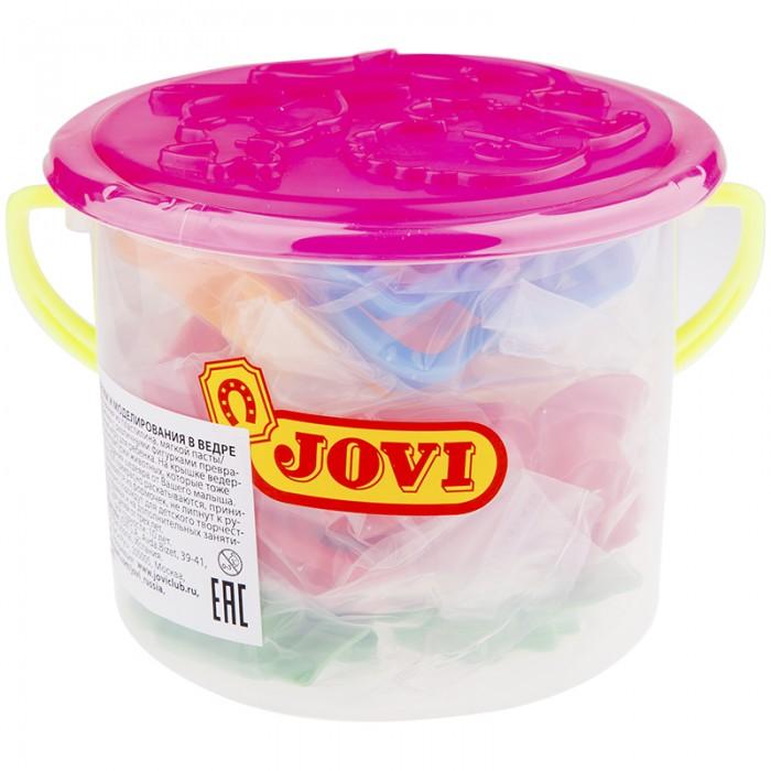 Всё для лепки Jovi Набор для лепки формочки в ведре 24 шт. формочки для лепки и моделирования 1 луч 22с 1419 08 красный