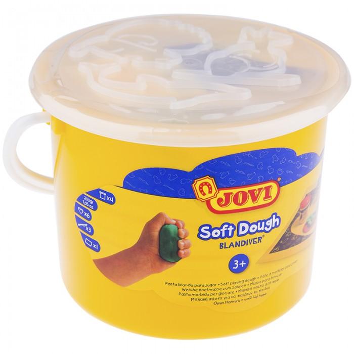 Всё для лепки Jovi Масса для лепки 4 цвета х 50 г аксессуары, пластиковое ведро всё для лепки jovi паста для моделирования отвердевающая 500 г