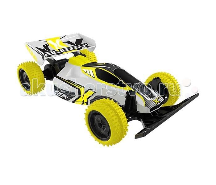Silverlit Машина Багги Рейсинг на радиоуправленииМашина Багги Рейсинг на радиоуправленииSilverlit Машина Багги Рейсинг на радиоуправлении - эта машина станет для настоящим источником радости для мальчика который обожает гонки и может часами разглядывать модели гоночных автомобилей. Детали автомобиля окрашены в желтый, черный и белые цвета, которые отлично сочетаются между собой и создают неповторимый модный дизайн гоночного авто. Машина является уменьшенной копией настоящего гоночного болида.  Шипованные покрышки позволяют играть с машинкой как дома, так и на улице, так как выпуклый рисунок протектора обеспечивает возможность передвижения автомобиля по разным поверхностям - линолеум, плитка, паркет, асфальт, песок, гравий.  Пульт радиоуправления выполнен в виде удобного джойстика, работающего от батареек. Для работы автомобиля и джойстика понадобятся 6 батареек типа AA, которые не входят в комплект.  Радиус действия модели - до 20 метров. Скорость 8 км/ч.  Масштаб: 1:18  В комплекте:  машинка  пульт управления<br>