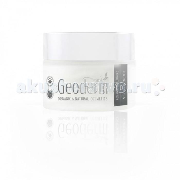 Geoderm Ультра-увлажняющий крем для лица с гиалуроновой кислотой Для нормальной и комбинированной кожиУльтра-увлажняющий крем для лица с гиалуроновой кислотой Для нормальной и комбинированной кожиGeoderm Ультра-увлажняющий крем для лица с гиалуроновой кислотой Для нормальной и комбинированной кожи - это органический крем с высоким содержанием гиалуроновой кислоты, предназначенный для интенсивного увлажнения и ухода за нормальным и комбинированным типами дермы. Запускает естественные регенерационные процессы в тканях эпителия и повышает его сопротивляемость возрастным изменениям. Средство обладает моментальным действием и высокой эффективностью.  Состав: сок листьев алоэ вера обеспечивает глубокое увлажнение эпителия, обладает антиоксидантным, противомикробным и антибактериальным эффектом, способствует быстрому заживлению повреждений кожи, борется с сыпью и прыщами, является отличным антисептиком масло сладкого миндаля содержит большое количество витаминов А и Е, существенно замедляет процесс старения эпидермиса, хорошо тонизирует и смягчает его, способствует регенерации тканей, устраняет шелушение и сухость, защищает дерму от негативного воздействия ультрафиолета масло жожоба насыщает кожный покров протеинами и аминокислотами, являющимися природными заменителями коллагена, обеспечивает высокий уровень увлажненности дермы, повышает ее эластичность и упругость, борется с морщинами, выравнивает рельеф кожи, возвращает ей здоровье и хороший тонус экстракт корня женьшеня препятствует испарению влаги и обезвоживанию дермы, обладает увлажняющими и питательными свойствами, стимулирует выработку новых клеток эпителия, запускает синтез естественного коллагена в тканях, разглаживает морщины и замедляет старение Применение: Умойтесь и удалите остатки декоративной косметики. На очищенную кожу лица, шеи и зоны декольте нанесите небольшое количество крема. Массажными движениями распределите средство тонким равномерным слоем по всей поверхности дермы, до полного впитывания. Максима