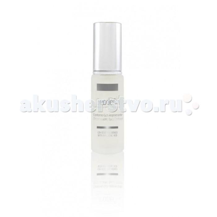 Geoderm Регенерирующий крем для контура глаз с гиалуроновой кислотойРегенерирующий крем для контура глаз с гиалуроновой кислотойGeoderm Регенерирующий крем для контура глаз с гиалуроновой кислотой  - это интенсивный крем с легкой гелевой текстурой, предназначенный для ухода за нежной чувствительной кожей век. Обогащен экстрактом алоэ вера и содержит гиалуроновую кислоту, замедляет процесс старения и омолаживает кожу. Легко впитывается и не оставляет следов. Снимает покраснения, темные круги и отёки под глазами.  Состав: сок листьев алоэ вера обеспечивает глубокое увлажнение дермы и поддерживает необходимый уровень увлажненности в течение всего дня, повышает эластичность и тургор кожи, устраняет мешки под глазами, разглаживает мелкие мимические морщинки, смягчает кожу, делает ее гладкой и бархатистой гиалуронат натрия (гиалуроновая кислота) притягивает влагу и удерживает ее в слоях эпителия, обладает мощным омолаживающим эффектом, укрепляет и разглаживает кожный покров, уменьшает количество и выраженность мимических морщин, запускает процесс естественной выработки коллагена на клеточном уровне масло авокадо глубоко проникает в клетки эпителия, насыщает кожу ценными питательными веществами, витаминами и микроэлементами, обеспечивая полноценное питание и увлажнение эпидермиса на протяжении всего дня, способствует обновлению тканей, придает дерме шелковистость и ровный рельеф масло плодов шиповника является мощным антиоксидантом, нейтрализует негативное воздействие свободных радикалов и факторов внешней среды, препятствует преждевременному старению эпидермиса, насыщает клетки жизненной энергией, стимулирует местный обмен веществ и кровообращение в капиллярах, укрепляет и улучшает общее состояние кожного покрова Применение: Умойте лицо и удалите остатки макияжа с глаз. Небольшое количество средства нанесите на кончики пальцев и легкими массажными движениями распределите по поверхности век и под глазами, дождитесь полного впитывания препарата. Использовать крем необходимо