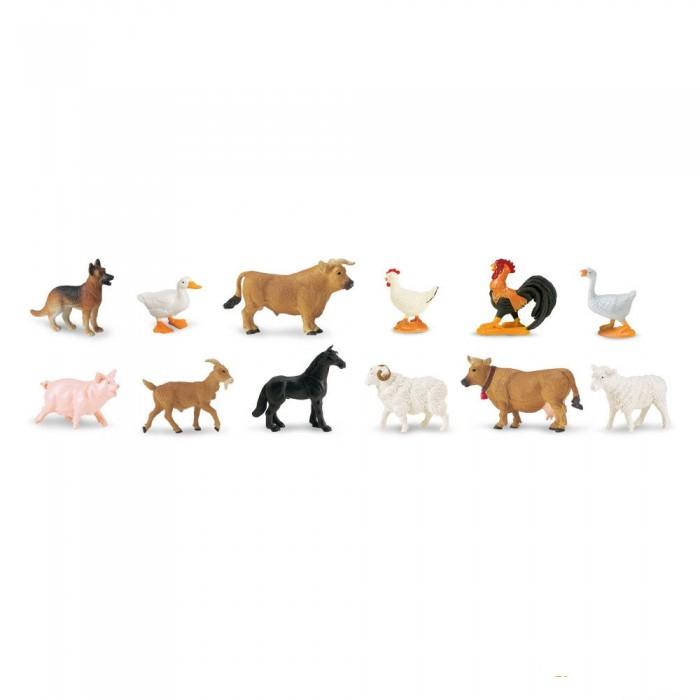 Игровые наборы Safari Ltd. Набор Обитатели фермы 12 шт. игровые наборы tomy игровой набор приключения трактора джонни и лошади на ферме