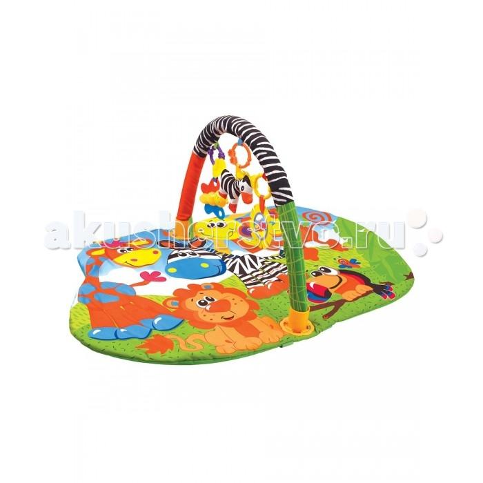 Развивающие коврики Ути Пути детский с дугой Веселый зоопарк