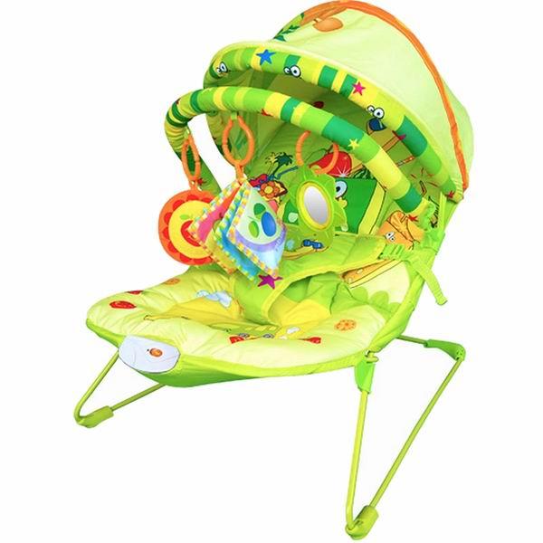 La-di-da Шезлонг Baby Hit Фруктовый рай с козырьком фото