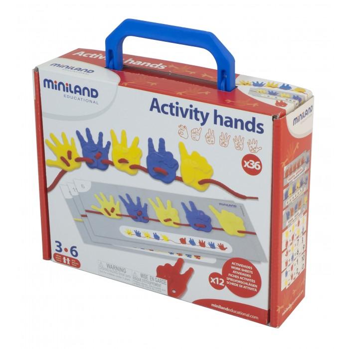 Развивающая игрушка Miniland Набор для обучения счету Ладошки