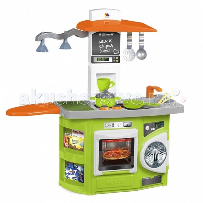 Molto Детская игровая кухня со светом 1 модульДетская игровая кухня со светом 1 модульMolto Детская игровая кухня со светом 1 модуль обязательно понравится вашей девочке. Теперь малышка сможет самостоятельно готовить свои любимые блюда и угощать ими родителей и своих куколок. Теперь весь процесс будет сопровождаться световыми эффектами, что добавит игре реалистичности.   Во время игры ребенок сможет развивать логическое мышление, моторику пальчиков рук, а также просто весело проводить время. Игровая кухня включает множество аксессуаров для приготовления вкусностей, поэтому с разнообразием блюд проблем не возникнет.   В комплект входит: плита с духовкой стиральная машинка 12 аксессуары для кухни Размер кухни в собранном виде: 80 х 28 х 82 см<br>