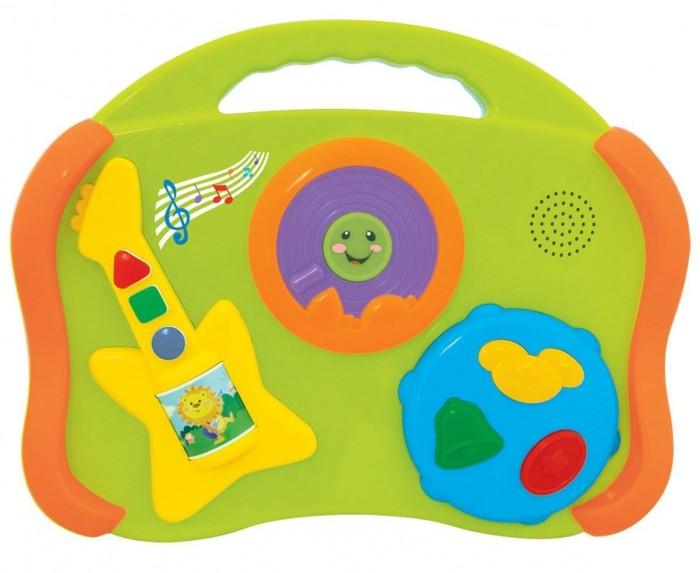 Развивающая игрушка Kiddieland Музыкальные инструменты 6 в 1Музыкальные инструменты 6 в 1Развивающая игрушка Kiddieland Музыкальные инструменты 6 в 1 отличный способ приобщить малышей к музыке с раннего возраста. Кнопки имеют разный цвет и геометрическую форму, что можно использовать для обучения и расширения кругозора малыша.  Игрушка способствует развитию музыкального слуха, чувства ритма, мелкой моторики, цветового восприятия, воображения и фантазии малышей.  В наборе: барабан, пианино, гитара, губная гармошка, тарелки, колокольчики.<br>