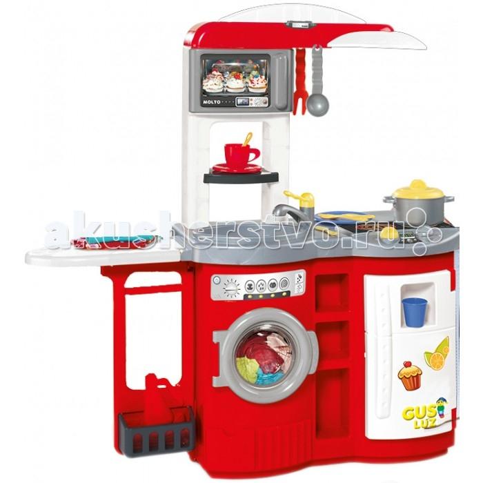 Molto Детская игровая кухня с гладильной доскойДетская игровая кухня с гладильной доскойMolto Детская игровая кухня с гладильной доской - это кухня приведет любую девочку в восторг. Здесь есть все необходимое для увлекательной игры - микроволновая печь, холодильник, стиральная машинка. Также в комплекте есть гладильная доска. Поэтоиу это уже не просто игровая кухня, а целый комплекс - мечта маленькой хозяюшки.  Дети с удоволствием будут играть на такой кухне и готовить любимые блюда, представляя себя взрослыми хозяйками.  Во время игры ребенок сможет развивать логическое мышление, моторику пальчиков рук, а также просто весело проводить время. Игровая кухня включает множество аксессуаров для приготовления вкусностей, поэтому с разнообразием блюд проблем не возникнет.   В комплект входит: микроволновая печь стиральная машинка холодильник гладильная доска 17 аксессуаров для кухни:кастрюля, крышка для кастрюли, стакан, чашка , пластиковый стакан, чайная ложка, лоток для СВЧ лоток, тарелка, 2 яйца, 2 колбаски, половник, вилка для мяса, нож, вилка, ложка  Размер кухни в собранном виде: 93,5 х 34 х 97,5 см<br>