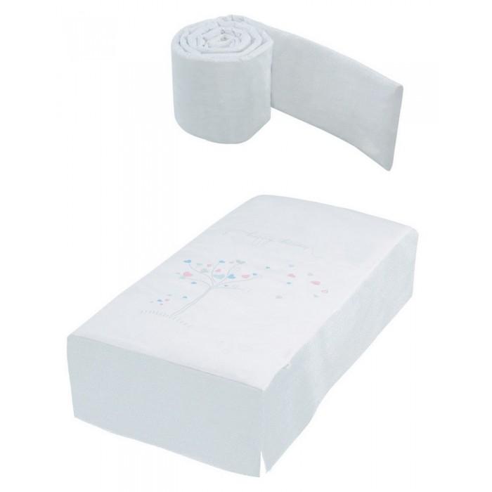 Комплект в кроватку Micuna Aura Бортики и покрывало 120х60 см TX-700Aura Бортики и покрывало 120х60 см TX-700Micuna Aura Бортики и покрывало 120х60 см TX-700 создана из натурального хлопка самой тонкой выделки.  Особенности: >комплект из покрывала и мягких бортиков для детской кровати  ткань: 100% хлопок  наполнитель: 100% полиэстер холлофайбер.<br>
