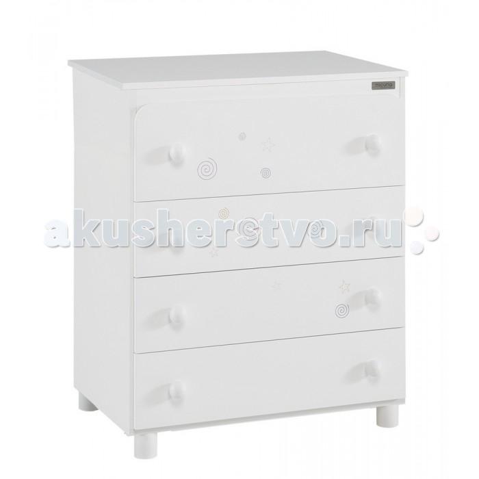 Детская мебель , Комоды Micuna Spirit пеленальный (4 ящика) арт: 296023 -  Комоды