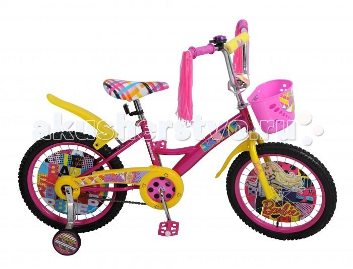 Велосипед двухколесный Navigator Barbie Kite-тип 18Barbie Kite-тип 18Двухколесный велосипед Navigator Barbie Kite-тип 18 подарит радость вашему ребенку.   Особенности:  Широкие страховочные колёса с декоративной вставкой Передняя корзина Пластиковые крылья Односоставной шатун Багажник, вставки в колесах, звонок, мягкая накладка на руле.<br>