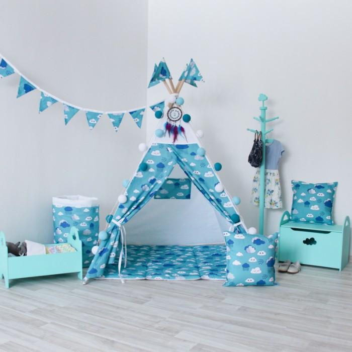 Палатки-домики VamVigvam Вигвам Clouds с окном и карманом vamvigvam детский ночник pineapple