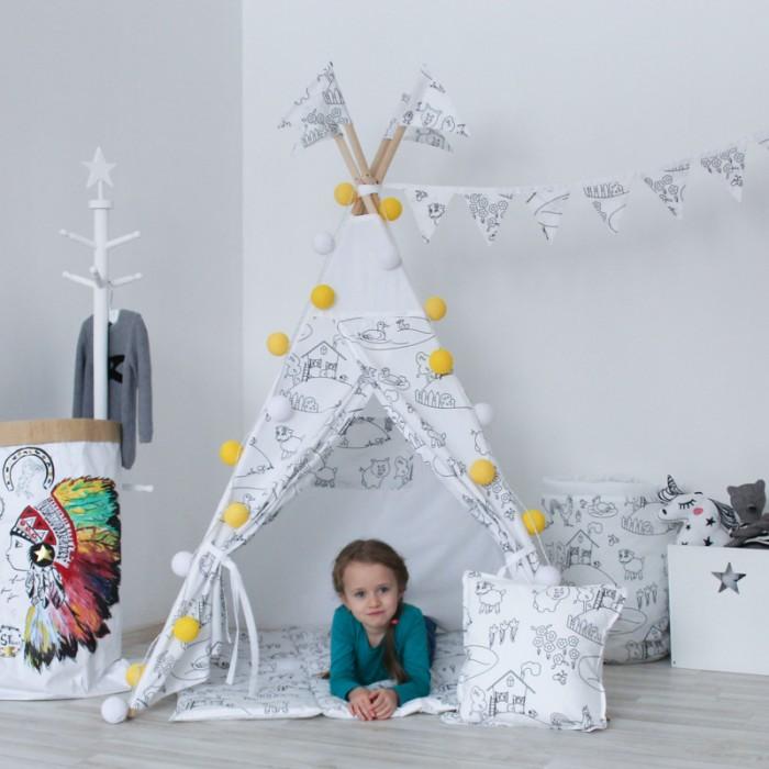 Палатки-домики VamVigvam Вигвам Painter с окном и карманом vamvigvam детский ночник pineapple
