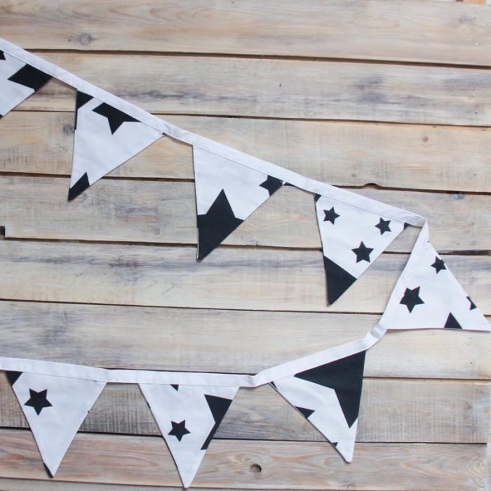 Товары для праздника VamVigvam Гирлянда из 8 флажков Black Stars пробковый пол corkstyle adventures stars black