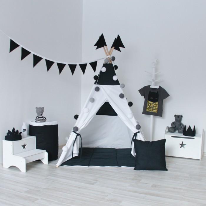 Палатки-домики VamVigvam Вигвам Black&White vamvigvam детский ночник pineapple