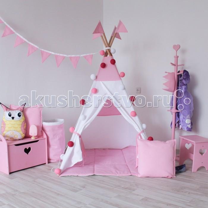 Палатки-домики VamVigvam Вигвам Simple Pink с окном vamvigvam детский ночник pineapple
