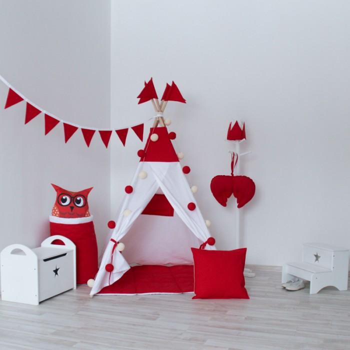Палатки-домики VamVigvam Вигвам Simple Red с окном vamvigvam детский ночник pineapple