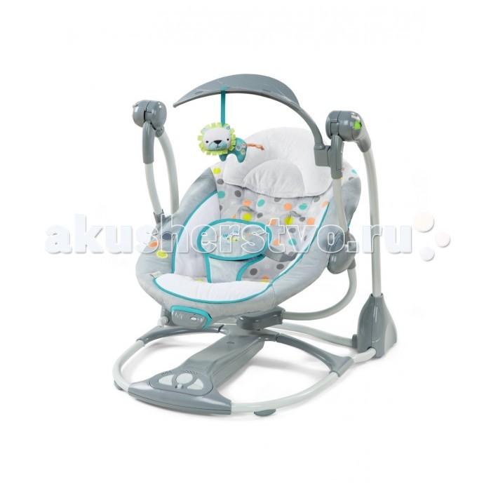 Детская мебель , Электронные качели Bright Starts InGenuity Умные и бесшумные с львёнком арт: 296755 -  Электронные качели