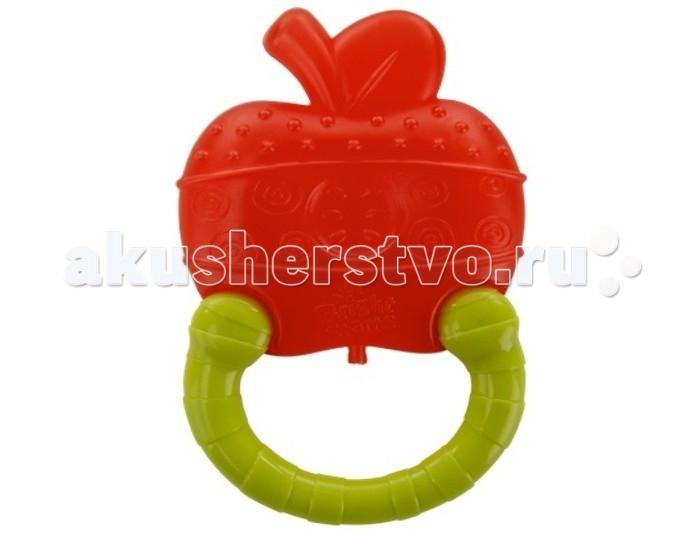 Прорезыватели Bright Starts Мягкий для зубок Колечко Яблоко bright starts игрушка прорезыватель полосатое колечко цветок охлаждающий