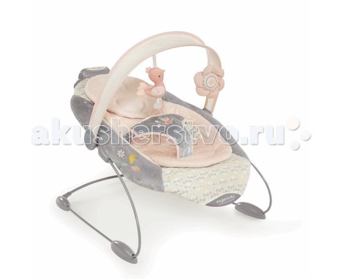 Bright Starts Кресло-качалка InGenuity Сны на рассветеКресло-качалка InGenuity Сны на рассветеBright Starts Кресло-качалка InGenuity Сны на рассвете обеспечит вашему ребенку спокойный и комфортный сон. Оно оснащено удобной подушкой для ног и съемным мягким подголовником, который можно стирать в машинке. Для дополнительной безопасности люлька оснащена трехточечными ремнями безопасности, которые надежно удержат малыша и в то же время не будут стеснять его движений и не доставят дискомфорта.  Ребенок наверняка с интересом и удовольствием будет слушать одну из 11 встроенных мелодий, а также разглядывать и тянуть ручки к очаровательным мягким игрушкам, подвешенных на дуге. Более спокойный сон обеспечивает встроенная вибрация - ее интенсивность и длительность действия можно регулировать по своему усмотрению. С этими качелями вам больше не придется проводить часы, пытаясь убаюкать беспокойного кроху и укачать его - кресло сделает это за вас, в то время как вы можете заниматься своими домашними делами!  Особенности: 30 минут непрерывного укачивания – комфортно, как у мамы на ручках 2 регулируемые скорости укачивания – легкое или более ощутимое качание Сиденье колыбельного типа с подушечкой для ног и съемным подголовником 8 мелодий и 3 звука природы Съемная перекладина с  2-мя забавными мягкими игрушками  Улучшенная система двигателя, которая усиливает надёжность продукта Размер изделия: 48 х 58.5 х 58.5 см<br>