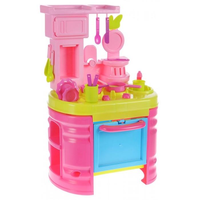 Bildo Игровая кухня большая МинниРолевые игры<br>Bildo Игровая кухня большая Минни выполнен в ярко-розовом и салатовом цвете и украшен тематическими декоративными наклейками. Маленькие хозяюшки смогут познакомиться с внешним видом плиты, мойки, духовки и микроволновой печи и придумать множество увлекательных сюжетов для игр с приготовлением различных блюд.   В комплекте набор посуды - 15 предметов. Высота кухни в собранном виде 72 см
