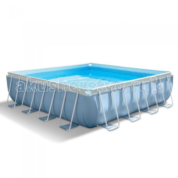Бассейн Intex каркасный призма 427х427 смкаркасный призма 427х427 смIntex Бассейн каркасный призма 427 х 427 см видео,фильтр-насос 220 В, лестница, тент, настил - – один из самых популярных бассейнов, диаметром 549 см., для отдыха всей семьей. Надежность бассейна обеспечивается за счет его конструкции.  Постоянную форму бассейна обеспечивает стальной каркас из гальванизированных труб  Трехслойные стенки бассейна, сочетающие в себе винил и полиэстер Дополнительная полипропиленовая лента, опоясывающая каркасный бассейн. Благодаря этим пунктам бассейн имеет отличную прочность, что позволяет ему выдерживать большую нагрузку. Для комфортного входа в бассейн в комплекте предусмотрена качественная лестница Intex. Для комфортного и безопасного купания Вам необходимо часто менять воду в бассейне. Однако, это проблема не для Вас, Ведь в комплекте идет фильтрующий насос, предназначенный для рециркуляция и очистки воды. То есть вода в бассейне не будет застаиватся. Если Вы захотите слить воду, то сможете сделать это с пользой, благодаря сливному клапану и шлангу. Например, Вы сможете полить свой участок. Дополнительную чистоту воды во время неиспользования бассейна обеспечит тент, идущий в комплекте.<br>