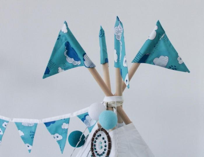 Палатки-домики VamVigvam Флажки к вигваму Clouds 4 шт. vamvigvam детский ночник pineapple