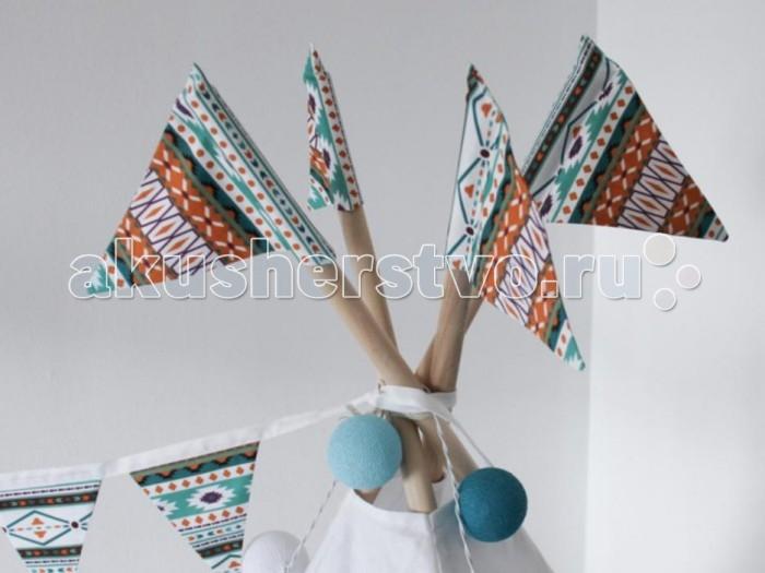 Палатки-домики VamVigvam Флажки к вигваму Aztec 4 шт. vamvigvam детский ночник pineapple