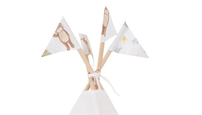 Палатки-домики VamVigvam Флажки к вигваму Forest Party 4 шт. vamvigvam детский ночник pineapple