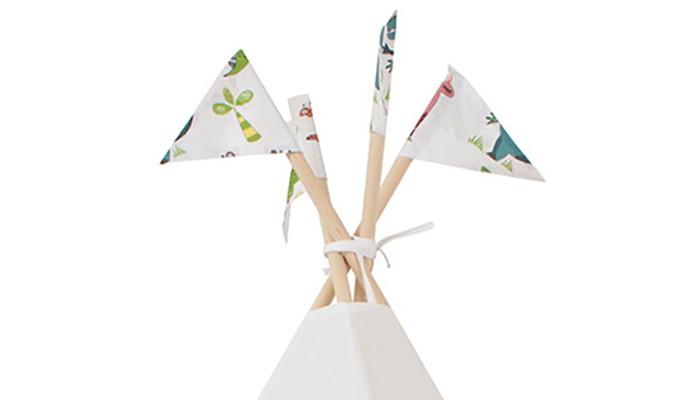 Палатки-домики VamVigvam Флажки к вигваму Dino 4 шт. vamvigvam детский ночник pineapple