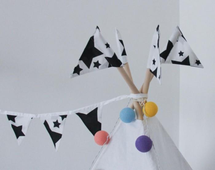 Палатки-домики VamVigvam Флажки к вигваму Black Stars 4 шт. пробковый пол corkstyle adventures stars black