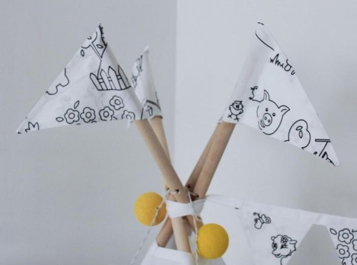 Палатки-домики VamVigvam Флажки к вигваму Painter 4 шт. vamvigvam детский ночник pineapple