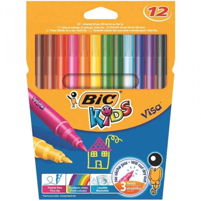 Фломастеры BIC Фломастеры для рисования на ткани фломастеры bic kids visa 12 цветов