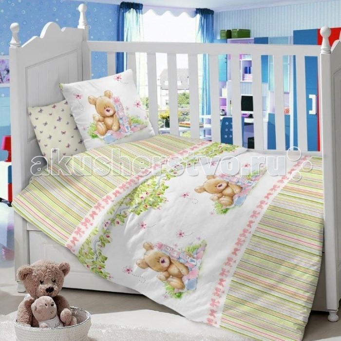 Комплект в кроватку Dream Time Мишка с кубиками (3 предмета)Мишка с кубиками (3 предмета)Комплект в кроватку Dream Time Мишка с кубиками (3 предмета), состоящий из наволочки 40х60 см, простыни 110х150 см и пододеяльника 110х145 см, выполнен из качественной ткани, специально для детских кроваток.   Комплект рассчитан специально для малышей от 0 до 4 лет. Сатин прочная и плотная ткань с диагональным переплетением хлопковой нити. Несмотря на повышенную плотность, этот материал отличается необыкновенной мягкостью и шелковистой фактурой.   Высокая плотность материала обеспечивает его долговечность и способность выдерживать многочисленные стирки на протяжении многих лет. Белье при этом продолжает оставаться все таким же ярким и привлекательным, поскольку ткань не линяет, не скатывается и не садится.   Такой комплект идеально подойдет для кроватки вашего малыша. На нем ребенок будет спать здоровым и крепким сном. Тон изделия может незначительно отличаться от изображения.<br>