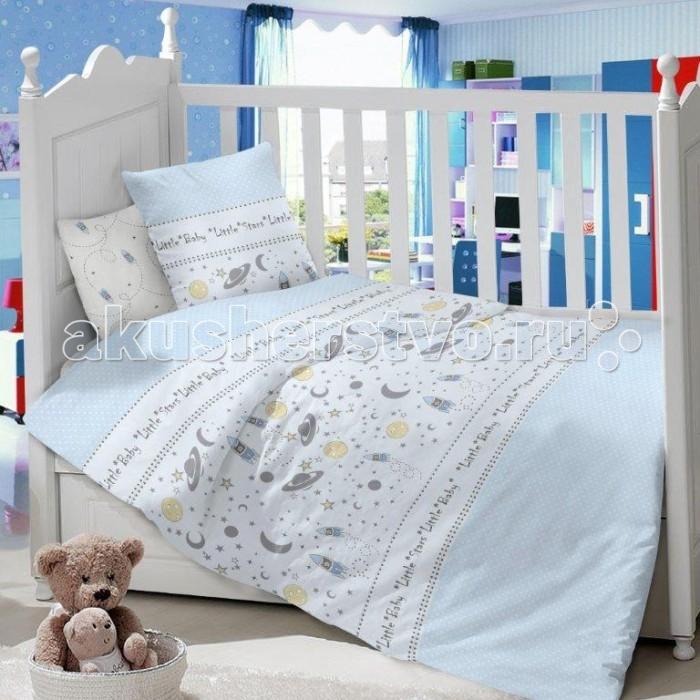 Комплект в кроватку Dream Time Детский Космос (3 предмета)Детский Космос (3 предмета)Комплект в кроватку Dream Time Детский BLK-44-SP-309-1/2C (3 предмета), состоящий из наволочки 40х60 см, простыни 110х150 см и пододеяльника 110х145 см, выполнен из качественной ткани, специально для детских кроваток.   Комплект рассчитан специально для малышей от 0 до 4 лет. Сатин прочная и плотная ткань с диагональным переплетением хлопковой нити. Несмотря на повышенную плотность, этот материал отличается необыкновенной мягкостью и шелковистой фактурой.   Высокая плотность материала обеспечивает его долговечность и способность выдерживать многочисленные стирки на протяжении многих лет. Белье при этом продолжает оставаться все таким же ярким и привлекательным, поскольку ткань не линяет, не скатывается и не садится.   Такой комплект идеально подойдет для кроватки вашего малыша. На нем ребенок будет спать здоровым и крепким сном. Тон изделия может незначительно отличаться от изображения.<br>