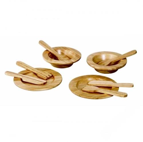 Деревянная игрушка Plan Toys Набор столовой посуды