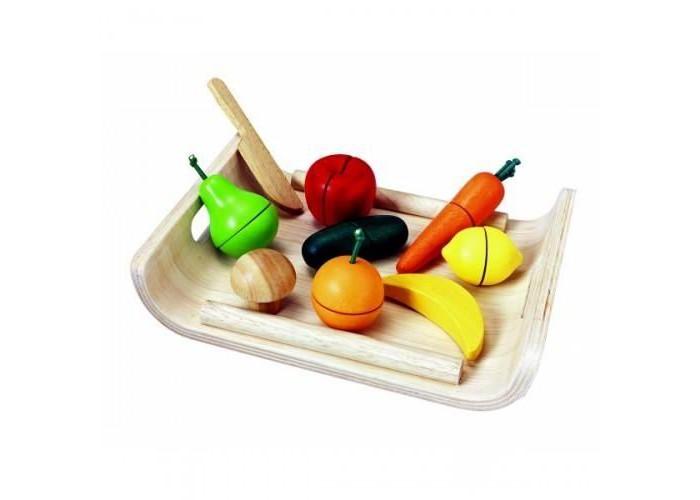 Деревянные игрушки Plan Toys Фрукты и овощи конструкторы plan toys игра кактус