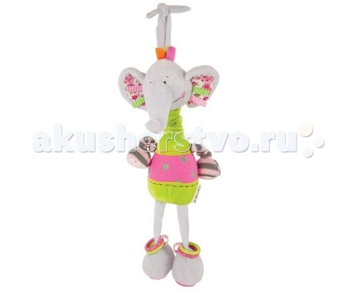 Подвесные игрушки Жирафики Музыкальная Слонёнок Тим игрушка альтернатива слонёнок м4935 ivory
