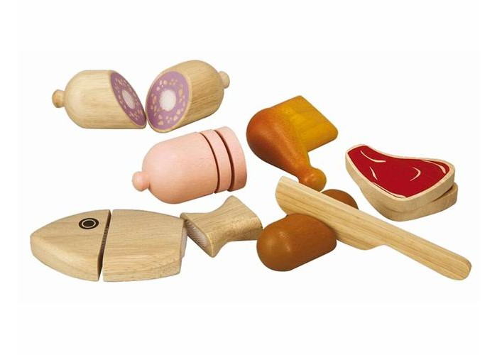 Деревянные игрушки Plan Toys Набор Мясо деревянные игрушки plan toys мой первый мобильный телефон